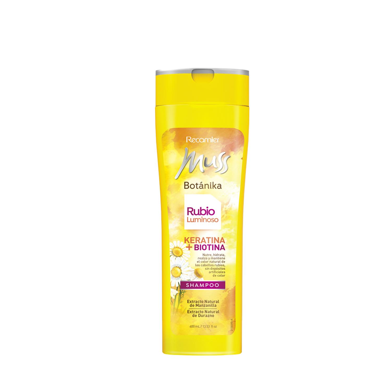 Shampoo Rubio Luminoso Muss Botanika Recamier Gloria Saltos